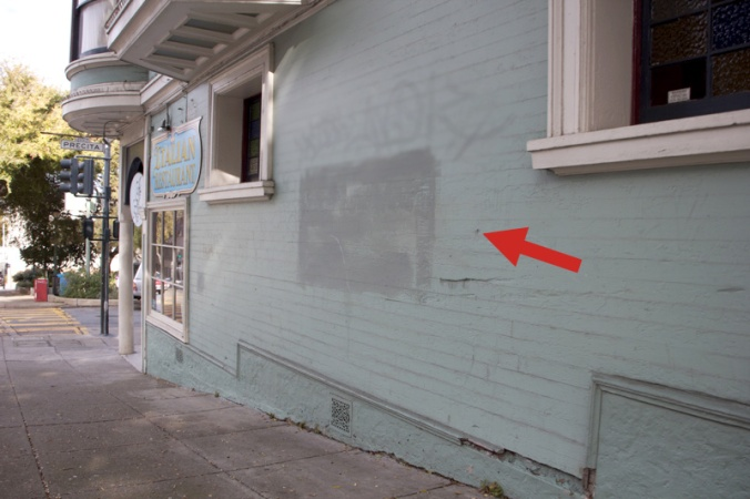 Arrow Indicates Possible Bullet Hole