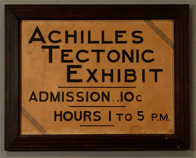 The First Achilles Tectonic Exhibit