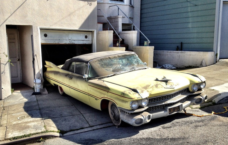 1959 cadillac emerges from bernal garage smart cars for Garage ford 59