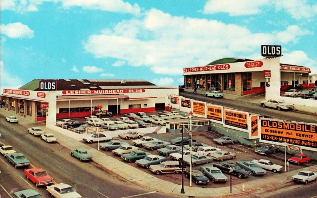 The Lost History Of The Oldsmobile Dealership On Army