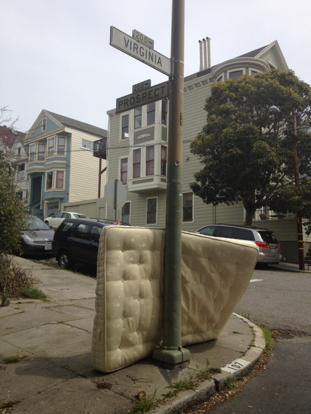 Dumped mattress in Bernal Heights