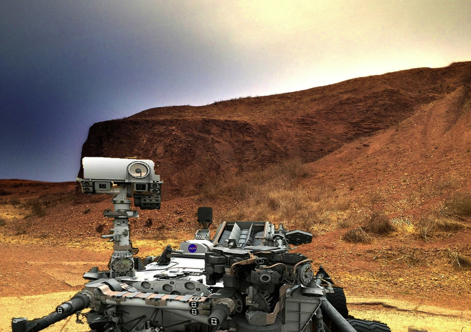 Mars Landing Hoax - Pics about space