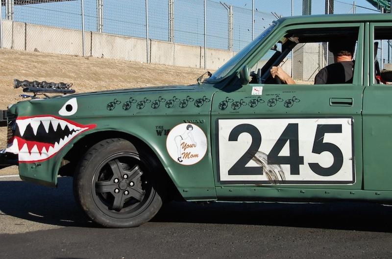 Car Race Track Shark Mouth