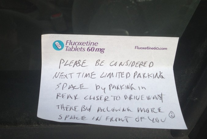 Nice parking notes: They exist!