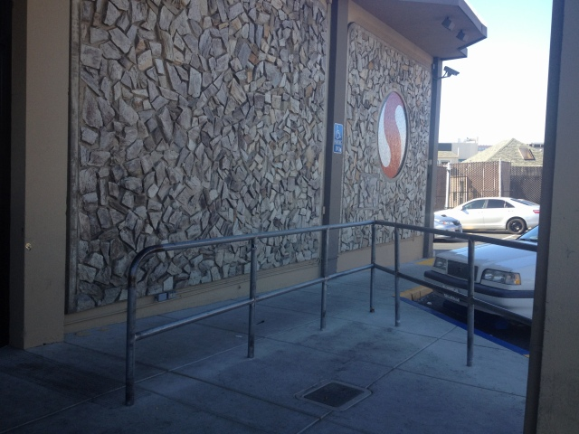 Safeway's empty shopping-cart corral