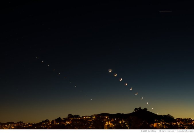 Venus and Moon Sequence over Bernal Heights