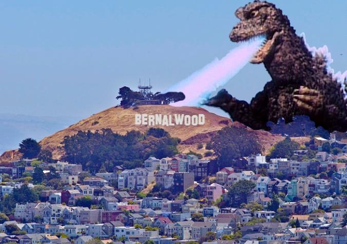 Bernal Hill from Billy Goat Hill Park