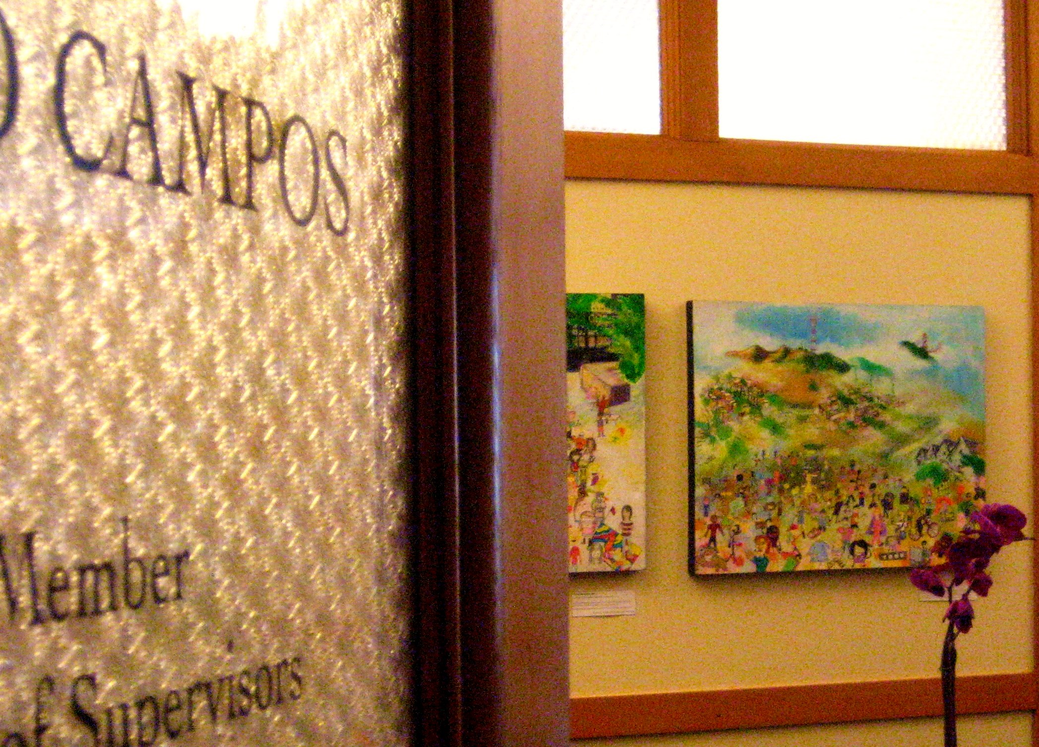 Today: Opening Reception for Bernal Artist in City Hall Office of Supervisor Campos