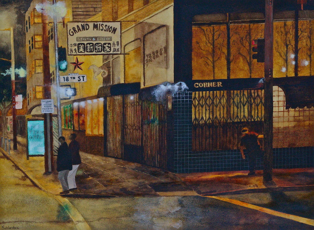 Paintings from Neighbor Jesse Schlenker Now Showing at Bernal Star