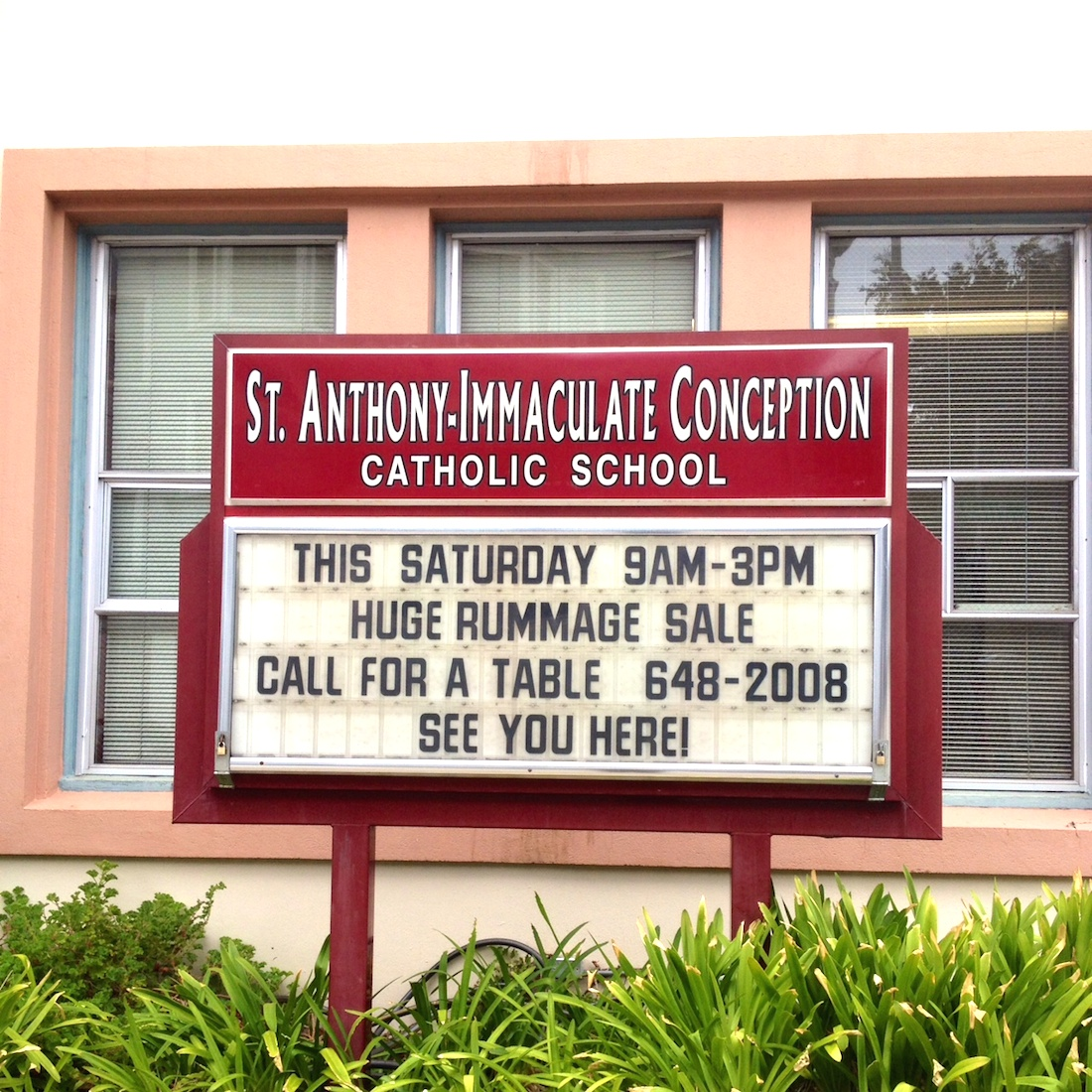 Rummage Sale Immaculate Conception Autos Post