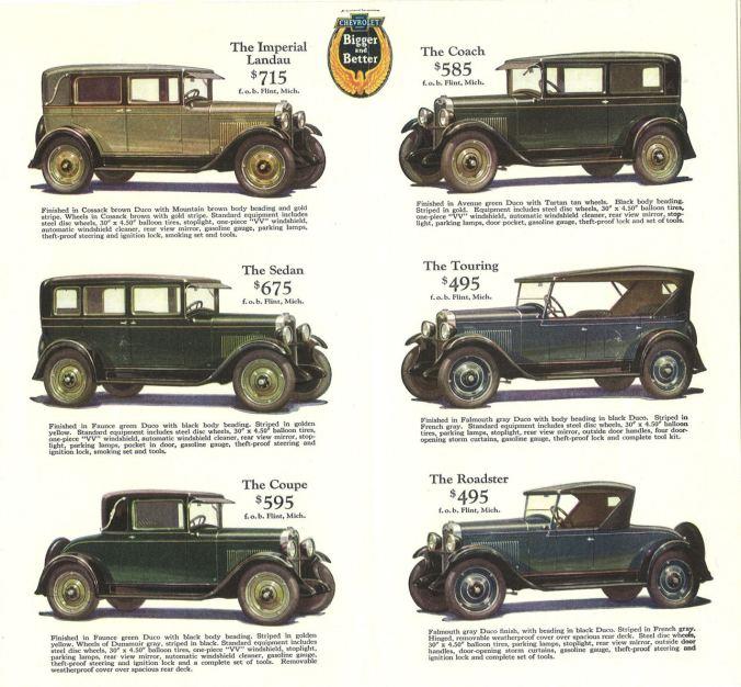 1928 Chevrolet Ad
