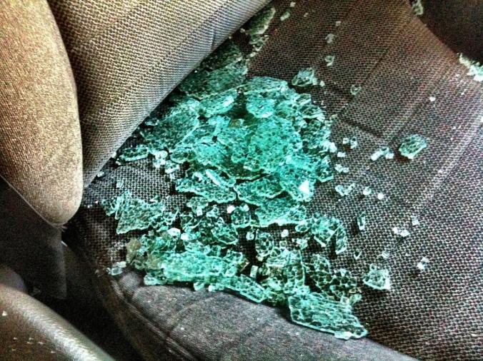 brokencarglass