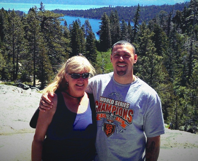 Neighbor Clare and Camilo in Lake Tahoe, 2013
