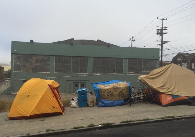 Site of proposed housing at 1515 South Van Ness, photographed on August 9, 2016