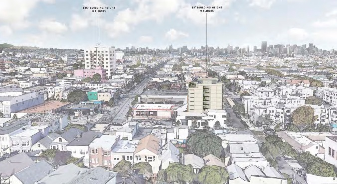 Rendering of 1296 Shotwell, as seen from Coso/Stoneman in North Bernal. Source: MEDA